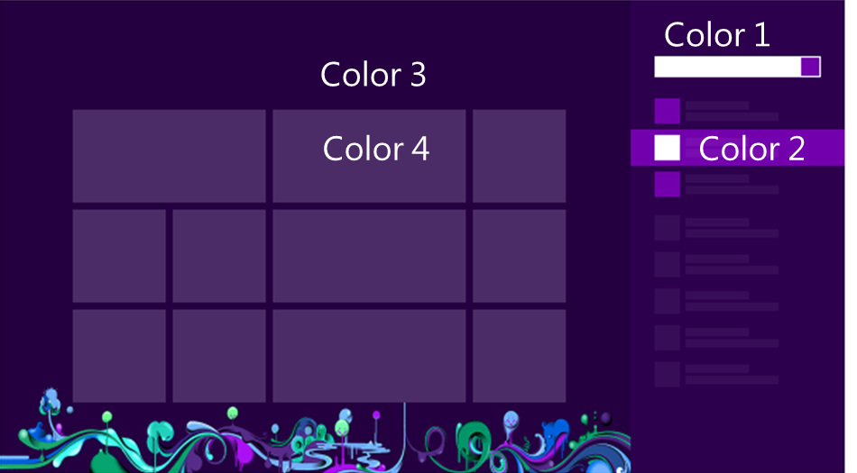 Windows 8 Colors (HEX code)
